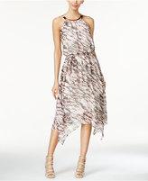 Thalia Sodi Printed Chiffon Handkerchief-Hem Dress, Only at Macy's