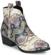 VERONIKA women's Mid Boots in Beige