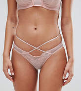 Wolfwhistle Wolf & Whistle Peach Lace Strap Brief