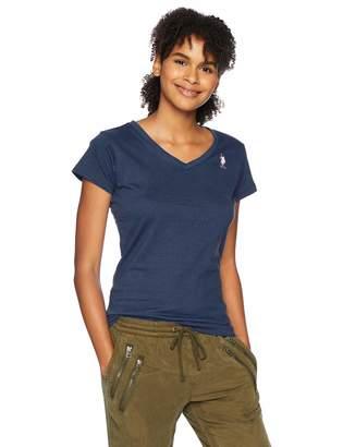 U.S. Polo Assn. Women's Short Sleeve Cotton Jersey V-Neck T-Shirt