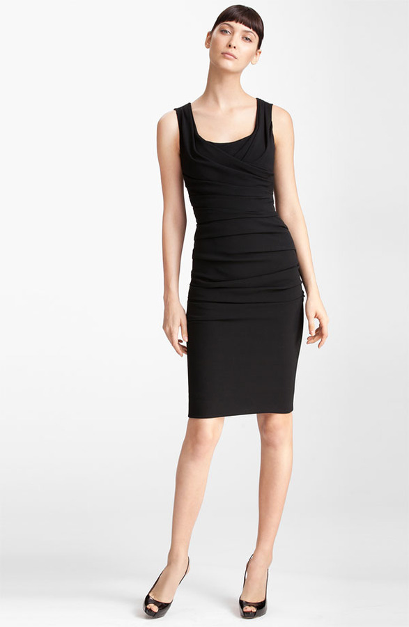 Dolce & Gabbana Ruched Sleeveless Stretch Cady Dress