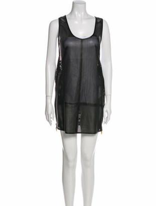 Giuseppe Zanotti Leather Mini Dress Black