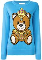 Moschino bear intarsia jumper