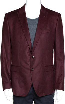 Dolce & Gabbana Burgundy Wool Martini Fit Tailored Jacket IT 52