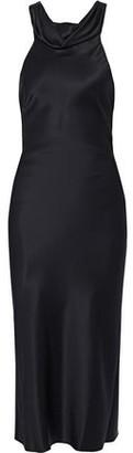 Cushnie Open-back Draped Silk-satin Dress