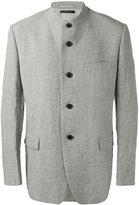 Issey Miyake buttoned jacket - men - Linen/Flax/Cupro/Wool - 2