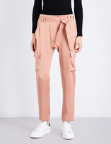 A.L.C. Adam relaxed-fit mid-rise satin-crepe trousers