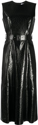 MSGM Faux-Leather Shift Dress