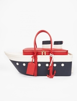 Thom Browne Pebblegrain Leather Cruiseliner Tote Bag