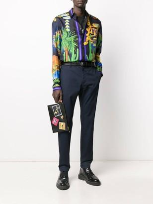 Versace Multicolored Silk Shirt