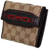 Gucci Dressage Horsebit Original Canvas Logo Leather Wallet