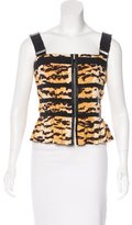 Dolce & Gabbana Printed Cropped Top