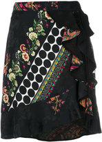 Etro floral wrap ruffled skirt - women - Silk - 40