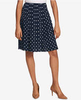 Tommy Hilfiger Pleated Polka-Dot Skirt, Created for Macy's