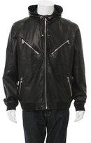 Ralph Lauren Black Label Hooded Leather Jacket