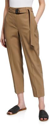 Brunello Cucinelli Wool Monili D-Ring Straight-Leg Pants