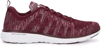 Athletic Propulsion Labs Techloom Pro burgundy knitted sneakers