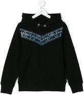 Diesel denim detail hoodie - kids - Cotton/Polyester - 6 yrs
