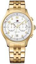 Tommy Hilfiger TOMMY HILFIGER MENS GOLD IP STAINLESS STEEL BRACELET WATCH