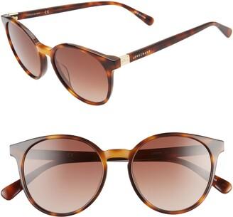 Longchamp Le Pliage 51mm Gradient Round Sunglasses