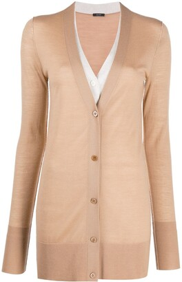 Joseph piped-trim V-neck cardigan