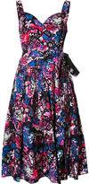 Marc Jacobs glitched floral print pleated dress - women - Cotton/Spandex/Elastane - 0