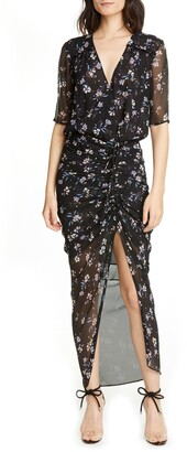 Veronica Beard Mariposa Silk Maxi Dress