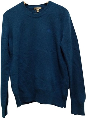 Burberry Blue Cashmere Knitwear