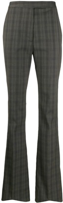 Maison Margiela High-Waisted Check Print Trousers