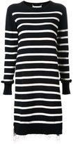 Muveil striped knitted dress