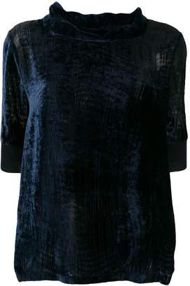 Fabiana Filippi velvet turtle neck blouse
