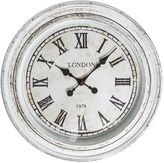 Casa Uno London Roman Numerals Round Wall Clock, 61cm, MS Cream