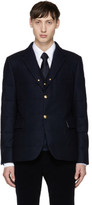 Moncler Gamme Bleu Navy Down Logo Blazer