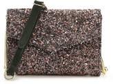 Madden-Girl Women's Stamp Crossbody Bag -Black Faux Leather