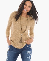 Chico's Sequin Shine Shirley Pullover