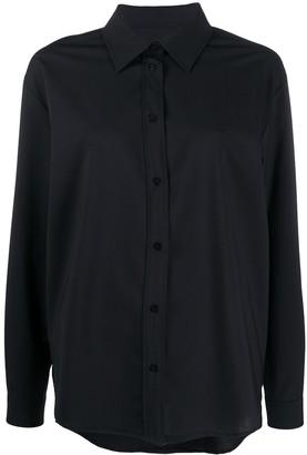 MSGM Button-Up Long-Sleeve Shirt