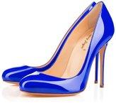 Nancy Jayjii Formal Shoes for Women Round Toe Slip-on Stiletto Genuine Leather 8.5