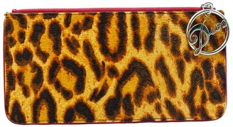 Christian Dior Limited Edition Leopard Ponyhair & Leather Gambler Clutch