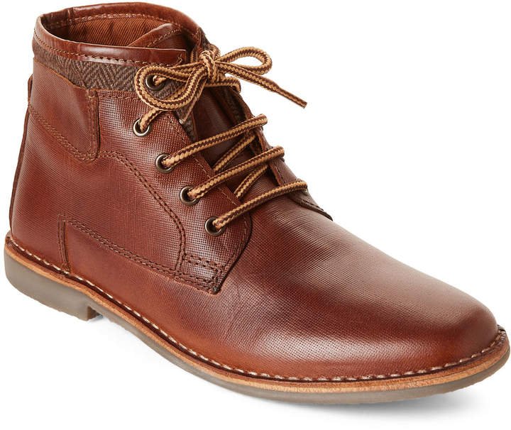 c82c06e9dbd Tan Manner Lace-Up Leather Boots