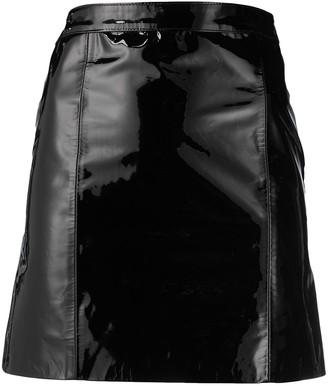 Manokhi High-Waisted High-Shine Finish Skirt