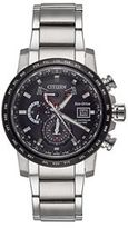 Citizen Eco-Drive Men's World Time A-T Stainless Steel Atomic Watch - AT9071-58E