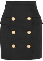 Balmain Cotton Mini Skirt - Black