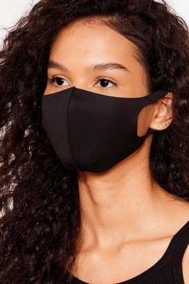 Nasty Gal Womens To My Face Fashion Face Mask - Black