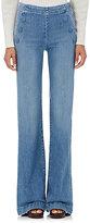 Frame Women's Le Capri Button Flare Jeans