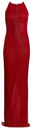 Rachel Gilbert Ainsley Cross-Front Sequin Gown