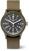 Timex Archive Camper Mk1 Resin And Grosgrain Watch - Army green
