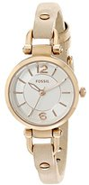 Fossil Women's ES3745 Georgia Gold-Tone Stainless Steel Watch with Leather Strap