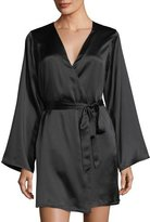 Morgan Lane Langley Silk-Charmeuse Short Robe