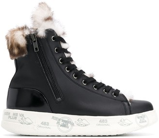 Premiata Edith lined hi-top sneakers