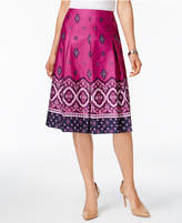 Charter Club Petite Cotton Paisley-Print A-Line Skirt, Created for Macy's